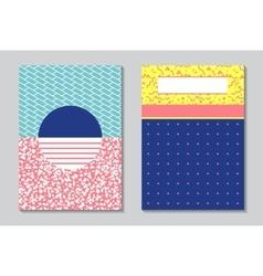 Abstract modern flyers brochure A4 design vector image vector image