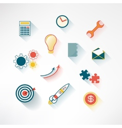 Set of colorful business icons made in modern flat vector image vector image