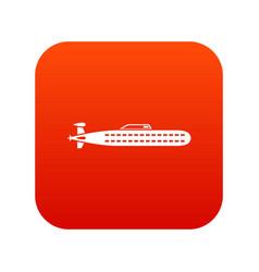 submarine icon digital red vector image vector image