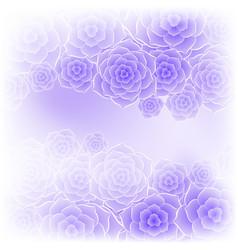 Beautiful purple rose flower background vector