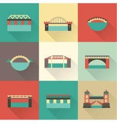 Bridge icon vector