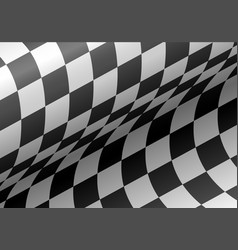 checkered flag wave background vector image vector image