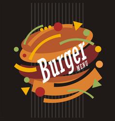 creative artistic burger design vector image vector image