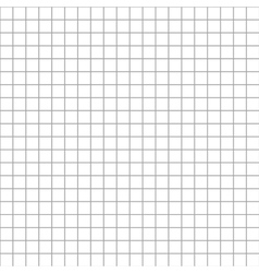 Five millimeters square grid on white seamless vector image