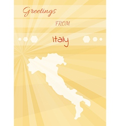Greetings from italy vector