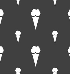 Ice Cream icon sign Seamless pattern on a gray vector image vector image