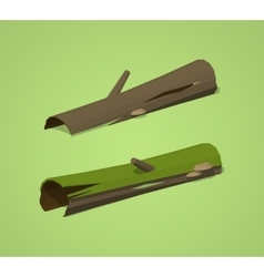 Low poly rotten logs vector image