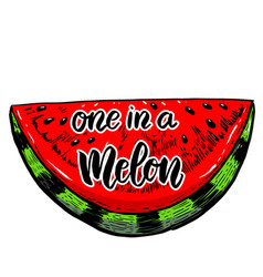 one in a melon vector image
