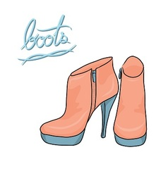 pastel color modern boots vector image vector image