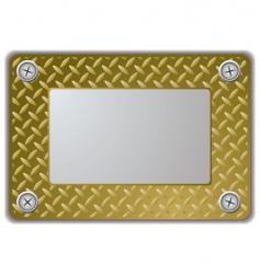 metal mirror frame vector image