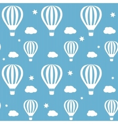 seamless pattern whith white hot air vector image vector image