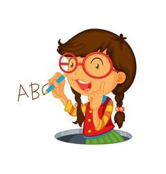 Writing icon girl vector image vector image