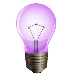 A purple light bulb vector