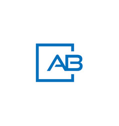 ab logo design inspiration vector image