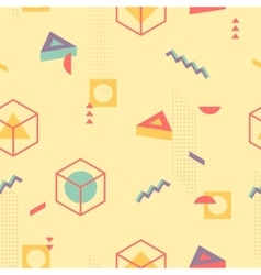 Abstract Geometric Pattern fashion 80-90s vector image