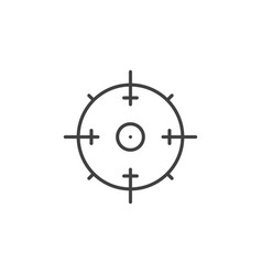 aim concept minimal icon in thin line style vector image