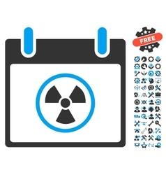 Atomic Calendar Day Icon With Bonus vector image