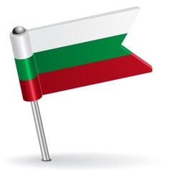 Bulgarian pin icon flag vector