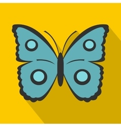 Butterfly with circles on wings icon flat style vector