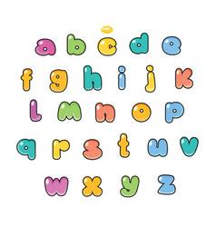 Cartoon alphabet candy typeface vector