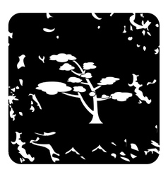 Cedar tree icon grunge style vector