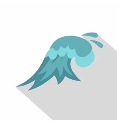 Clear wave icon cartoon style vector image