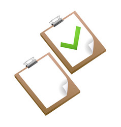 clipboard with green ticks checkmarks checklist vector image