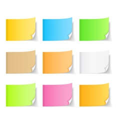Colored Sticky Notes vector image