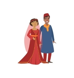 Couple In Turkish National Clothes vector