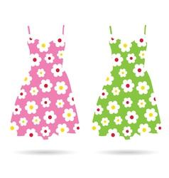 Dresses color vector