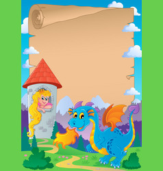 Fairy tale theme parchment 2 vector