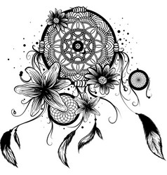fashion with dream catcher vector image