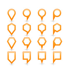 Flat orange color map pin sign location icon vector