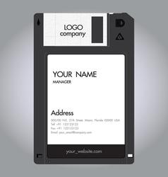 Floppy disc namecard vector