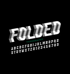 Folded style font vector