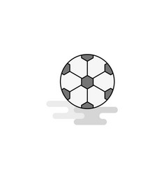 football web icon flat line filled gray icon vector image
