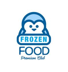 Frozen food premium club label for freezing vector