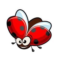 Funny cartoon ladybug vector