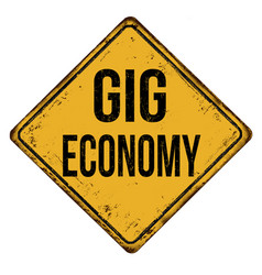 Gig economy grunge rubber stamp vector