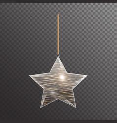 Golden christmas star vector