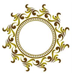 golden round frame vector image