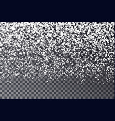 gradient halftone snow flake isolated on dark back vector image