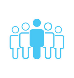 Group of five people or group of users standing vector