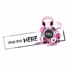 grunge headphones design vector image
