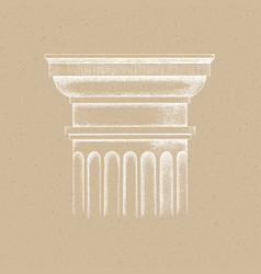 hand drawn capital doric order vector image