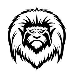 head of a monkey vector image