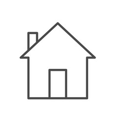 home line icon vector image