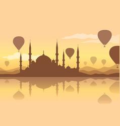 hot air balloon backgraund vector image