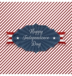 Independence Day red blue and white Holiday Label vector image