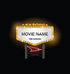 light sign billboard cinema vector image